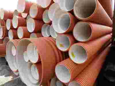 Трубы полипропиленовые гофрированные для наружной и ливневой канализа - main