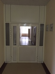 Огнестойкие алюминиевые двери со стеклом - foto 2